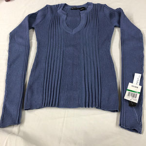 NWT Blue Stretchy Long Sleeve Top